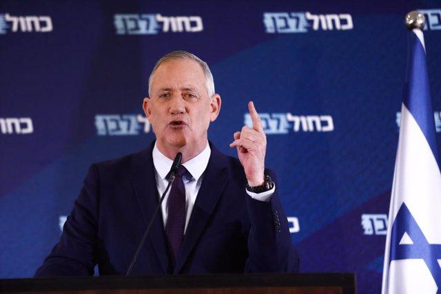 El ministro de Defensa de Israel y líder del opositor Azul y Blanco, Benny Gantz.