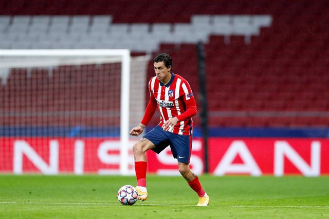 Jose Gimenez of Atletico de Madrid in action during the UEFA Champions League football match played between Atletico de Madrid and Lokomotiv Moskva at Wanda Metropolitano stadium on november 25, 2020, in Madrid, Spain