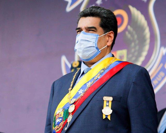 El presidente de Venezuela, Nicolás Maduro, con mascarilla en plena pandemia de coronavirus.