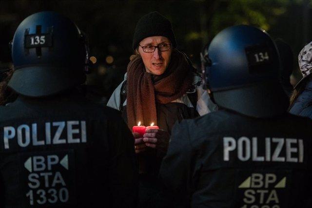 Imagen de archivo de una protesta contra las medidas anticoronavirus en Alemania.