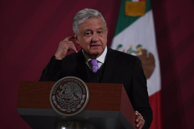 25 November 2020, Mexico, Mexico City: Mexican President Andres Manuel Lopez Obrador speaks during his daily press conference at the National Palace. Photo: -/El Universal via ZUMA Wire/dpa