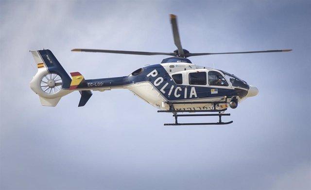 Helicóptero  de la policía nacional en una imagen de archivo