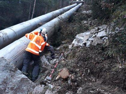 La reparación de los elementos de la central de Barrosa afectados por un desprendimiento en Bielsa comienza esta semana