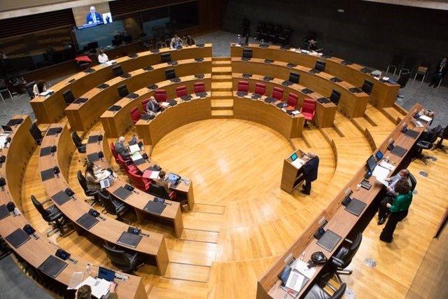 Hemicicle del Parlament de Navarra.