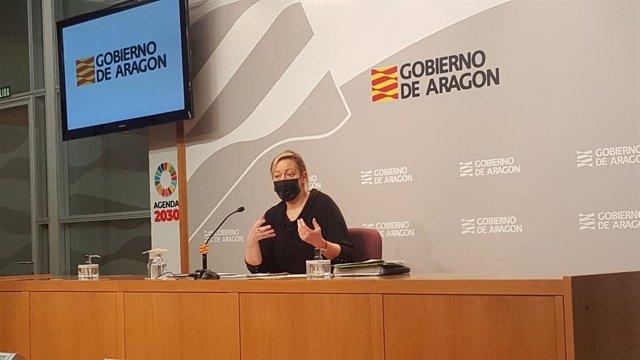 Marta Gastón en la rueda de prensa de este miércoles.