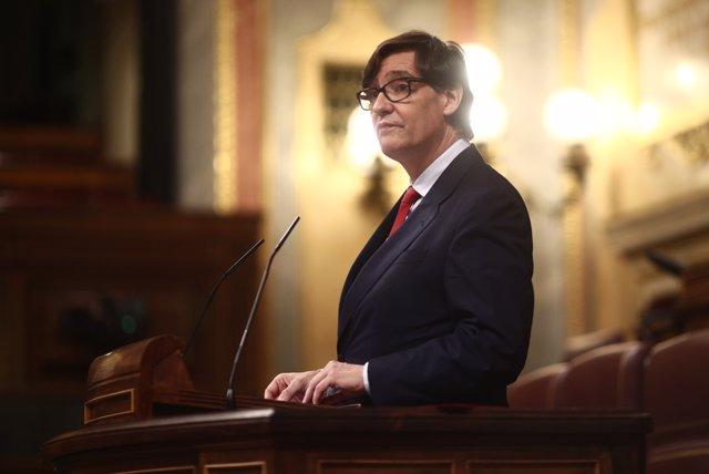 El ministro de Sanidad, Salvador Illa, interviene en el Congreso