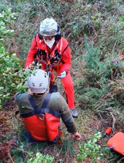 Un cazador resulta herido por disparo en un pie en Valdebárcena, en Villaviciosa