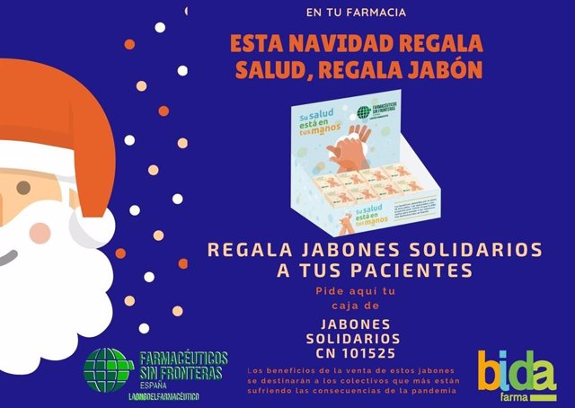 Campaña 'Esta Navidad regala salud, regala jabón'.