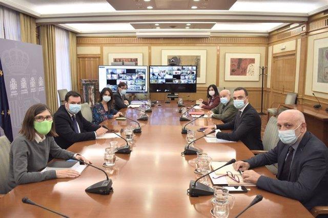 Reunió del Consell Interterritorial del Sistema Nacional de Salut (CISNS). Madrid (Espanya), 14 d'octubre del 2020.