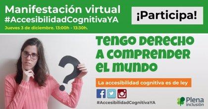 Plena inclusión convoca mañana una manifestación virtual por una información comprensible para todos los ciudadanos