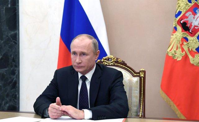 Vladimir Putin, en una videoconferencia