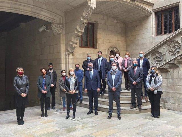 La consellera de Cultura, Àngels Ponsa, en la commemoració del 20è aniversari de l'entrada en la llista del Patrimoni Mundial de la Unesco de la Vall de Boí i el conjunt arqueològic de Tarraco.