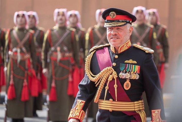 El rey Abdalá II de Jordania