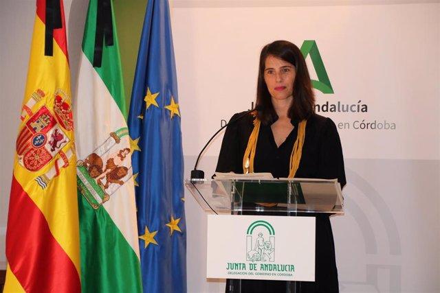 La delegada de Agricultura, Ganadería, Pesca y Desarrollo Sostenible de la Junta de Andalucía en Córdoba, Araceli Cabello
