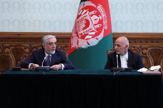 Abdulá Abdulá y Ashraf Ghani