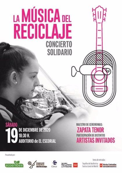 El Teatro Auditorio de San Lorenzo de El Escorial acogerá el concierto solidario 'La Música del Reciclaje' de Ecoembes