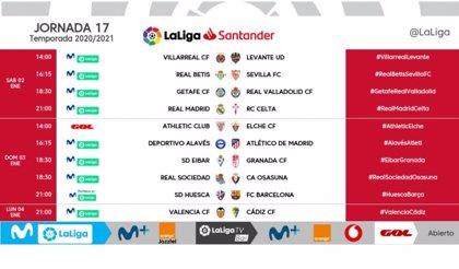 El Real Madrid arrancará 2021 ante el Celta el sábado 2 de enero