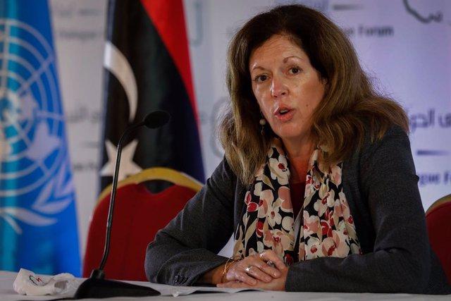 La enviada especial de la ONU para Libia, Stephanie Williams