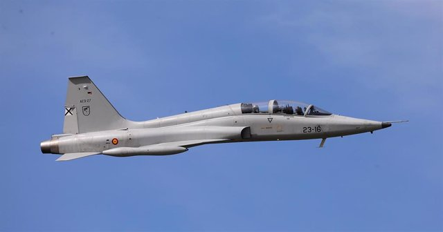 Caza F-5 en Sevilla durante el centenario de la constitución de Tablada en marzo de 2020