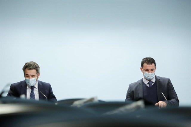 El ministre Portaveu i de Finances d'Andorra, Eric Jover, i el ministre de Presidència, Economia i Empresa d'Andorra, Jordi Gallardo.