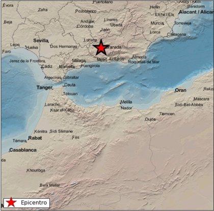 Sentido en Granada y Málaga un terremoto de 3,5 grados con epicentro al noroeste de Chauchina