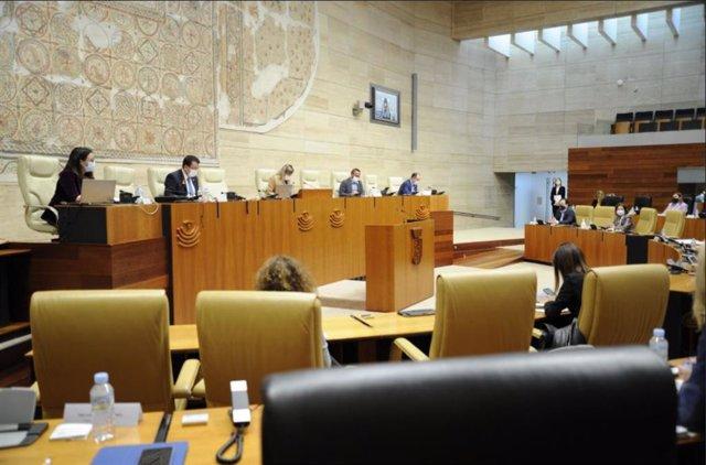 Pleno en la Asamblea de Extremadura