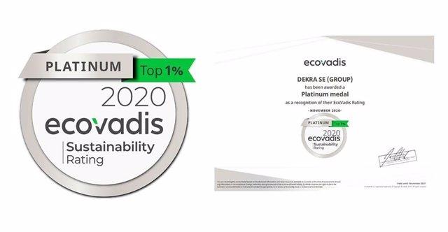 Medalla platinum en la Calificación de Sostenibilidad Corporativa