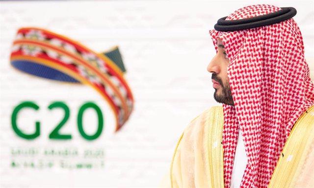 22 November 2020, Saudi Arabia, Riyadh: Saudi Crown Prince Mohammed bin Salman attends a session on the second day of the virtual G20 summit, presided by Saudi Arabia. Photo: -/Saudi Press Agency/dpa