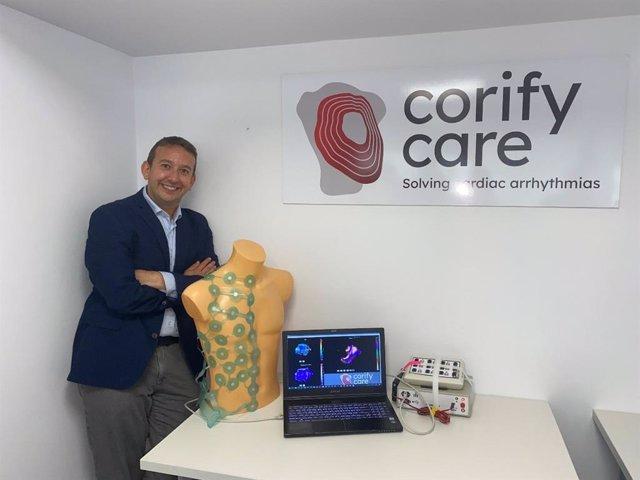 El investigador de la Universitat Politècnica de València Andreu Climent ha sido seleccionado para la fase final de los Premios del Instituto Europeo de Innovación y Tecnología (EIT) por el desarrollo de 'Corify', un dispositivo para tratar arritmias
