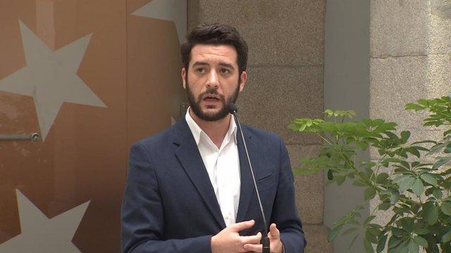 César Zafra, portaveu de Cs a l'Assemblea de Madrid.