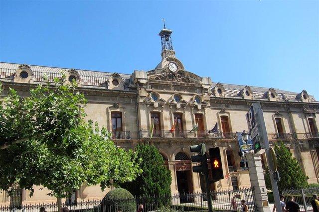 Fachada de la Diputación de Jaén.