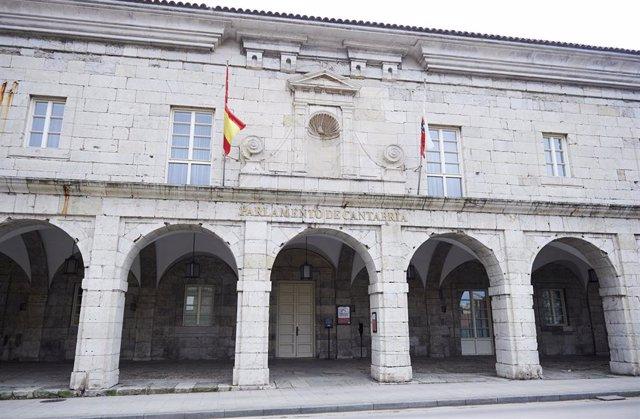 Exterior del Parlamento de Cantabria. Archivo