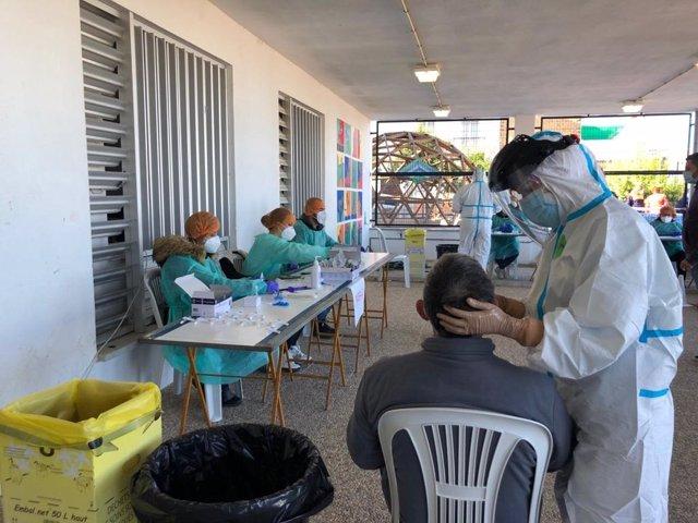 Cribado con test de antígenos en Prado del Rey