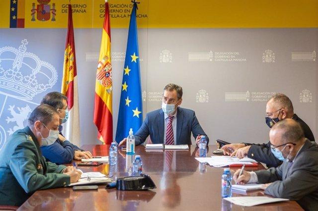 El delegado del Gobierno en C-LM, Francisco Tierraseca, en la reunión del Cecor