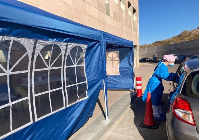 Punto Covid en el Hospital Santa Lucía. PCR