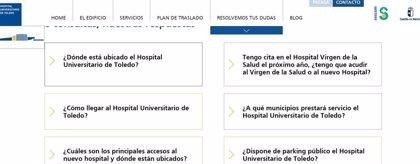 Los ciudadanos pueden plantear sus dudas sobre el hospital de Toledo en su web y su nuevo teléfono