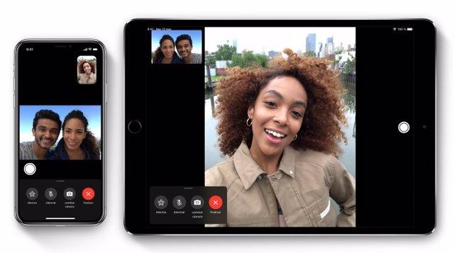 Videollamada en FaceTime