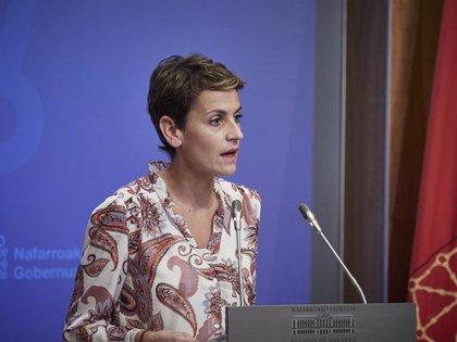 """Chivite dice que defenderá """"con firmeza"""" el régimen foral ante el resurgir del debate sobre fiscalidad"""