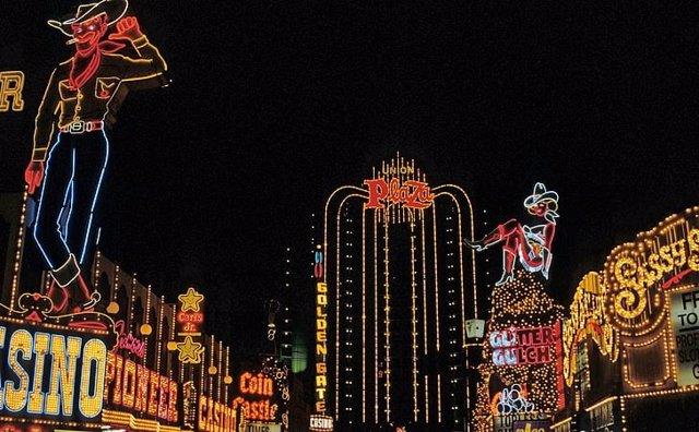 Luces de neón en Las Vegas
