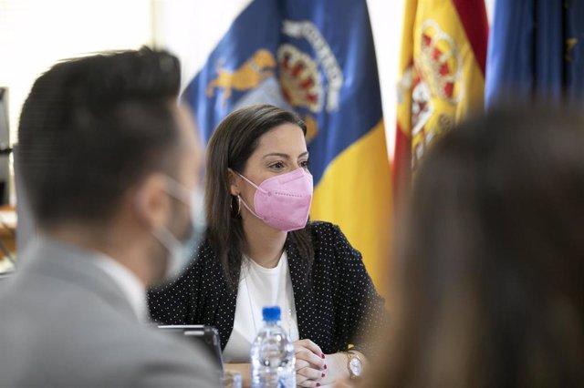 La consejera canaria de Turismo, Yaiza Castilla