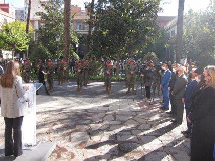Extremadura recuerda a los trabajadores esenciales durante la pandemia en la celebración del Día de la Constitución