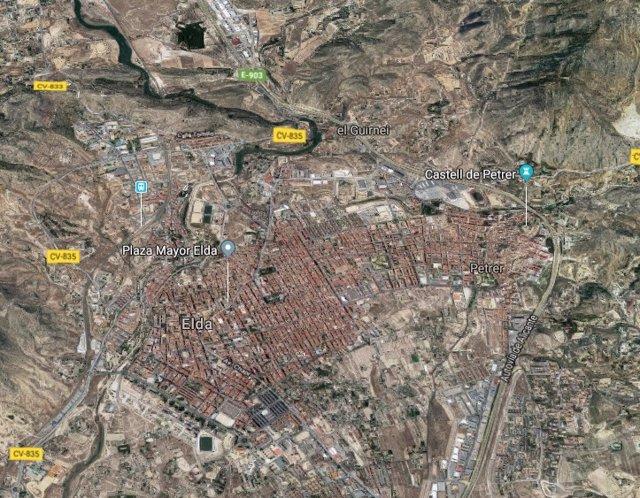 Localització d'Elda i Petrer (Alacant)