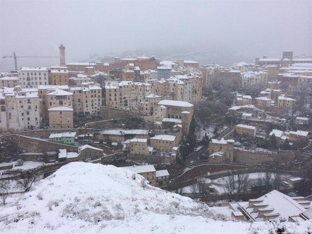 Nieve en Cuenca, frío, temporal