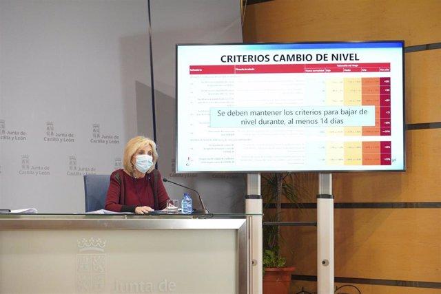 Verónica Casado durante la rueda de prensa de este jueves tras el Consejo de Gobierno.