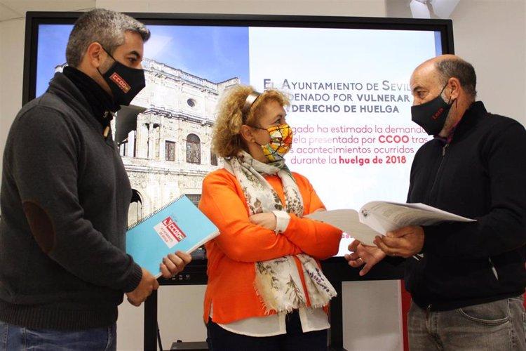 Condenan al Ayuntamiento de Sevilla por contratar vigilancia privada en la huelga municipal de 2018, según CCOO