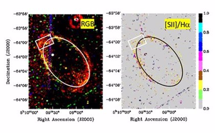 Tenaces supernovas de 120.000 años reveladas en una galaxia vecina
