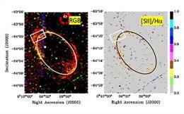 Restos de supernova de 120.000 años en la Gran Nube de Magallanes