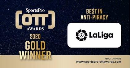 LaLiga repite el oro de SportsPro por su lucha contra la piratería en los OTT Awards