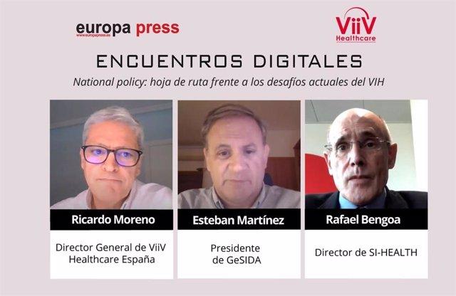 Encuentro digital 'National Policy: Hoja de ruta frente a los desafios actuales del VIH', organizado por Europa Press en colaboración con la compañía ViiV Healthcare