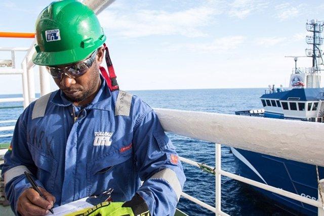 Trabajador de Tullow Oil